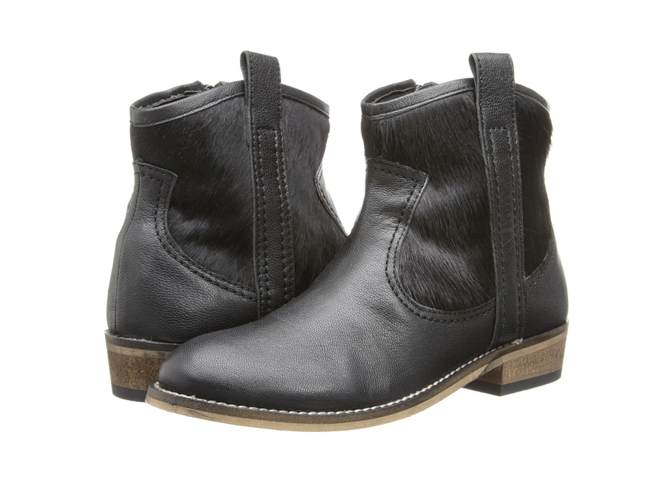 Pazitos - Studded West Bootie (Little Kid) (Black) Girls Shoes