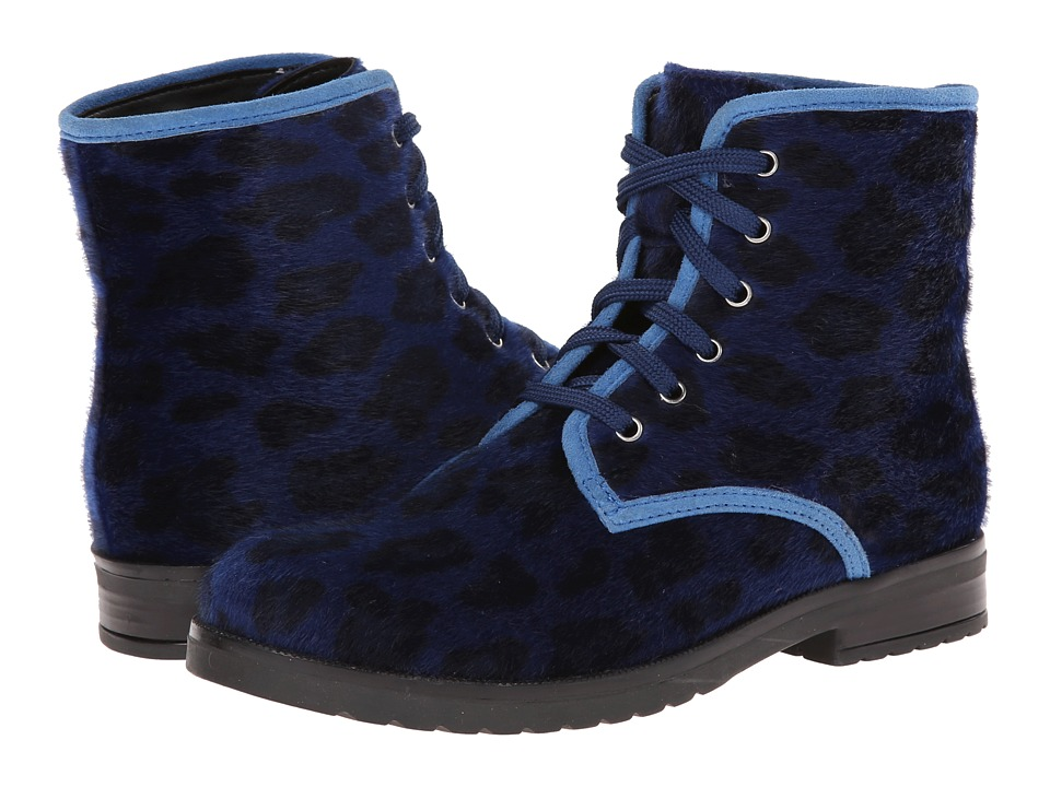 Pazitos - Comando Boot PU (Little Kid/Big Kid) (Cobalt Cheetah) Girls Shoes
