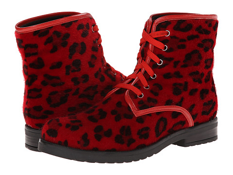 Pazitos - Comando Boot PU (Little Kid/Big Kid) (Red Cheetah) Girls Shoes