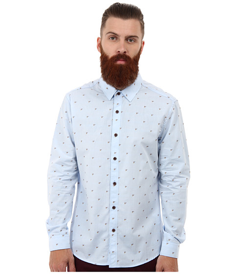7 Diamonds - Spirit Of The Night L/S Shirt (Light Blue) Men's Long Sleeve Button Up