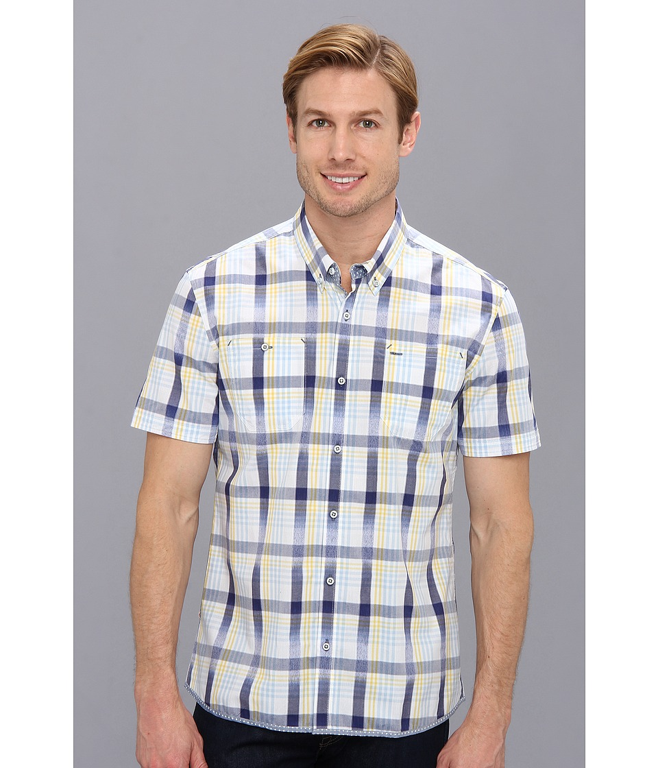 7 Diamonds - Surf Riders (Blue) Men's Short Sleeve Button Up