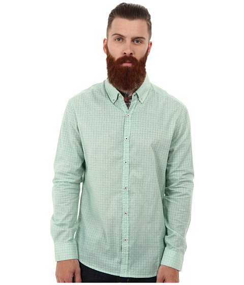 7 Diamonds - Green Light L/S Shirt (Green) Men's Long Sleeve Button Up