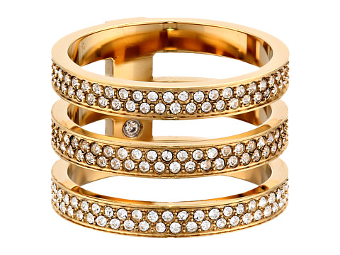 Michael Kors - Tri Stack Open Pave Bar (Gold) Ring