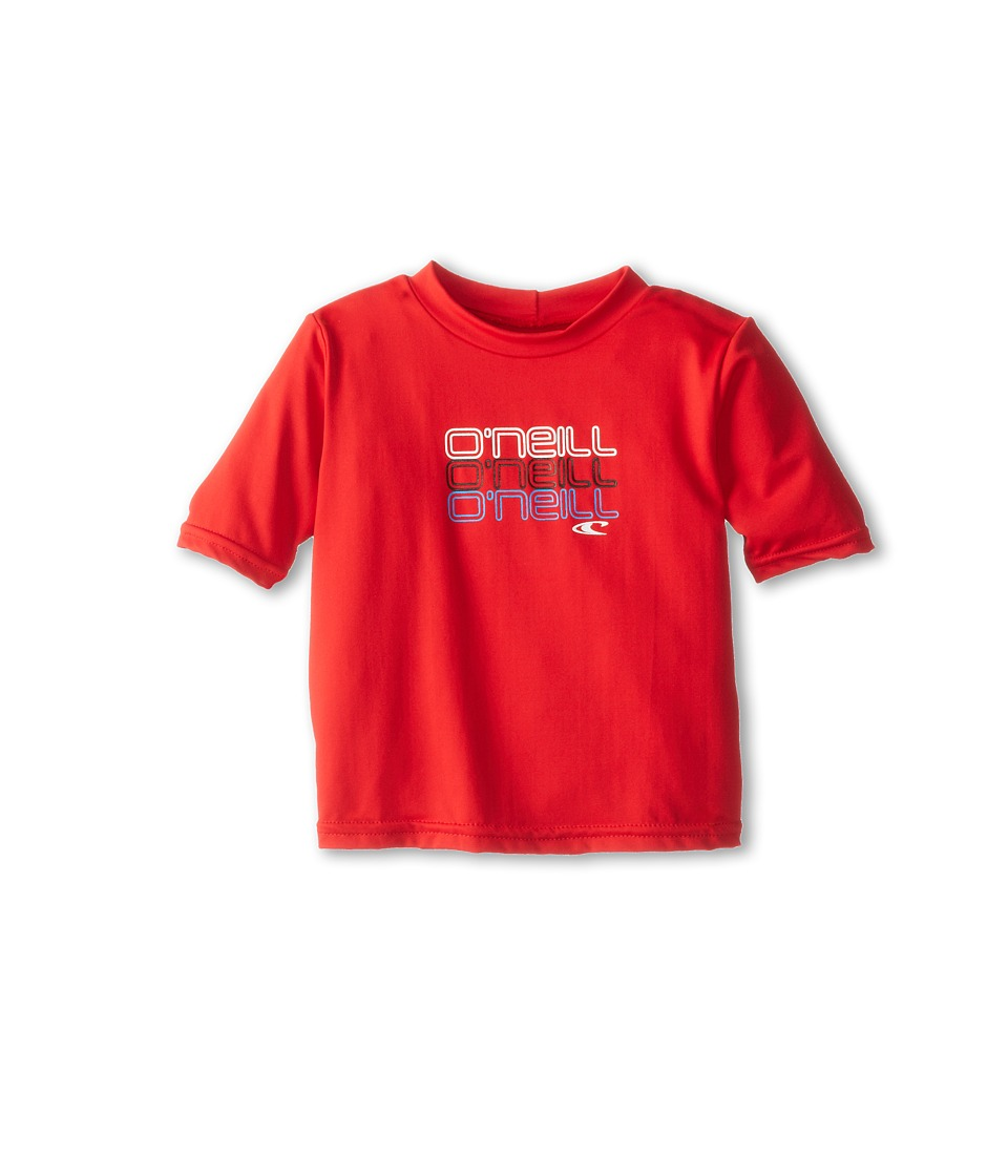O'Neill Kids - Skins S/S Rash Tee (Infant/Toddler/Little Kids) (Red 1) Boy's Swimwear