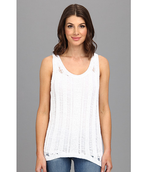 MICHAEL Michael Kors - Tape Yarn Tank (White) Women's Sleeveless