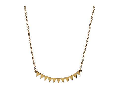 gorjana - Mika Mini Plate Necklace (Gold) Necklace