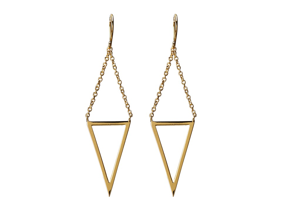 gorjana - Mika Cutout Drop Earrings (Gold) Earring