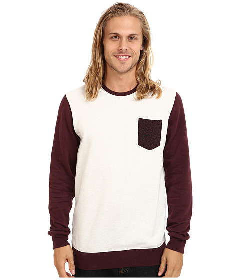 Fox - Stopper Crew Fleece (Heather White) Men's Sweatshirt