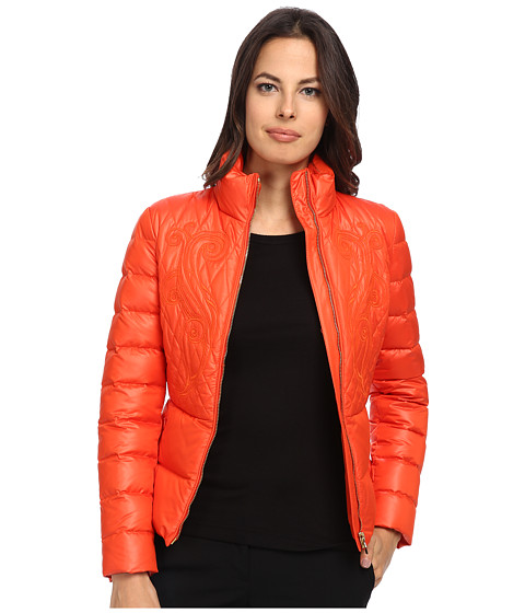 Versace Collection - Down Jacket w/ Embroidered Detail (Gerbera) Women's Dress