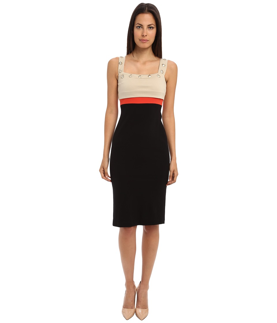 Versace Collection - Jersey Color Blocked Dress (Black/Gray/Red) Women