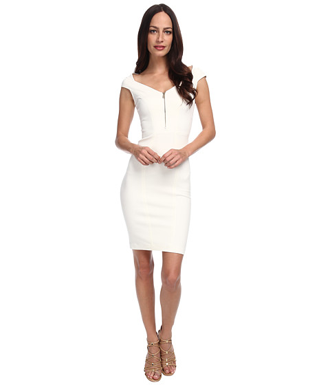 Versace Collection - Cap Sleeve Jersey Dress (White) Women's Dress