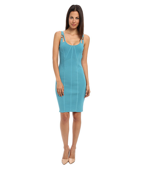 Versace Collection - Knitted Body Con Dress (Aloe) Women