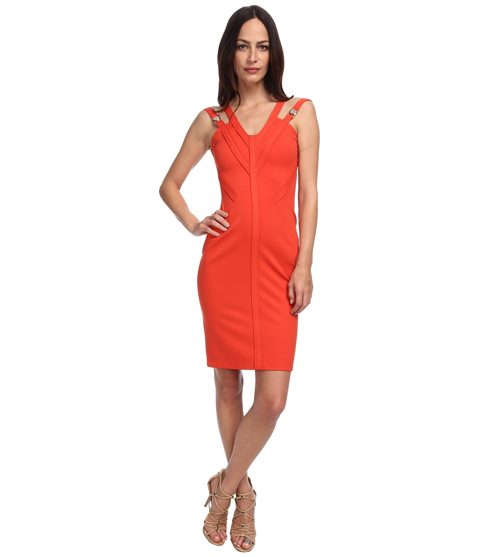 Versace Collection - Double Strap Jersey Dress (Gerbera) Women's Dress