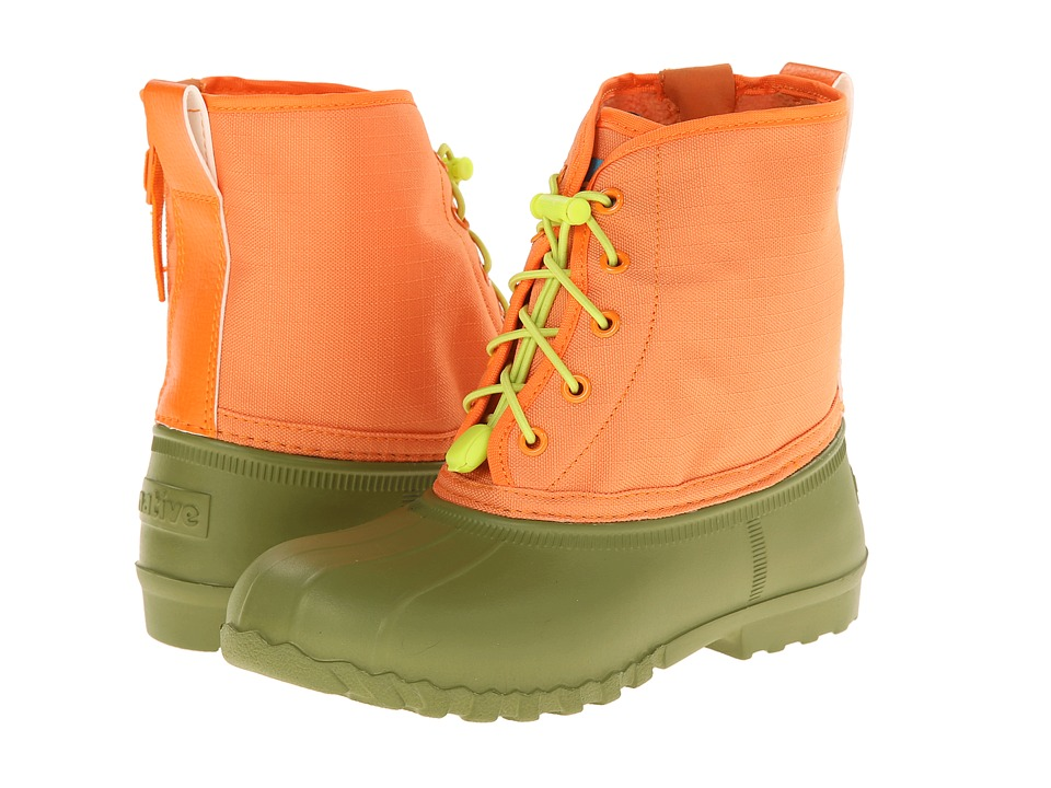 Native Kids Shoes - Jimmy (Little Kid) (Juice Greeen/Foxtail Orange) Kids Shoes