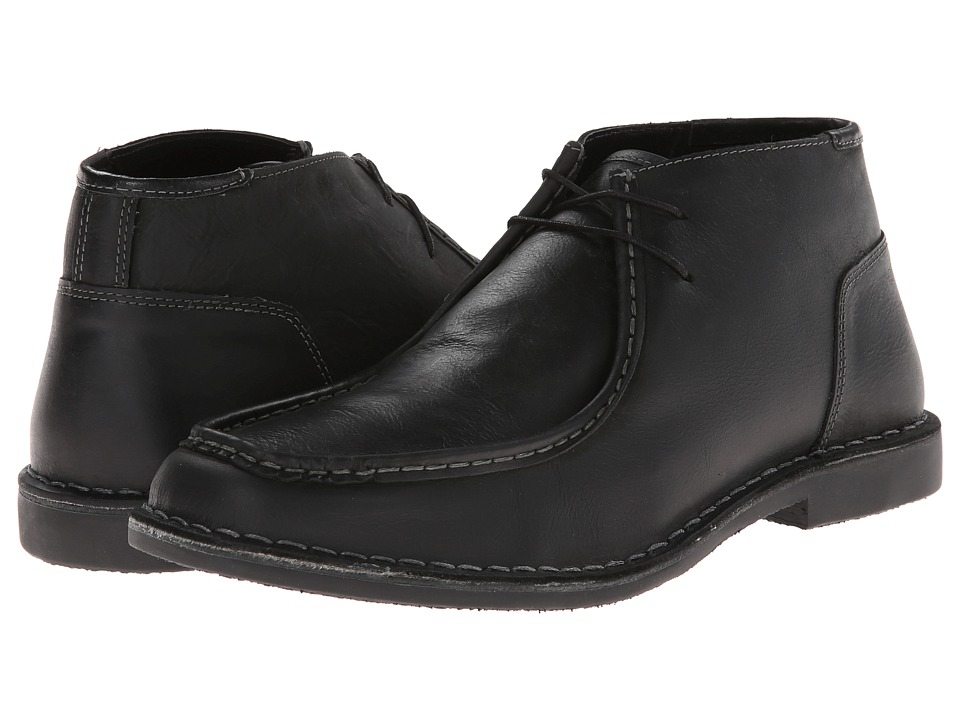 Steve Madden - Handler (Black Leather) Men's Lace-up Boots