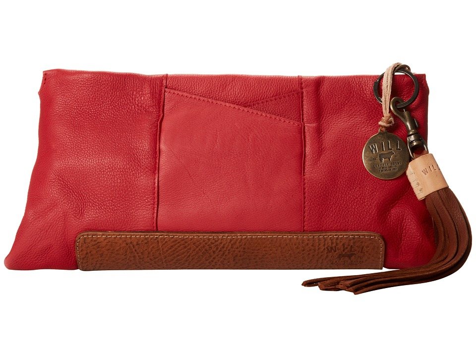 Will Leather Goods - Isabel Clutch (Red/Tan) Clutch Handbags