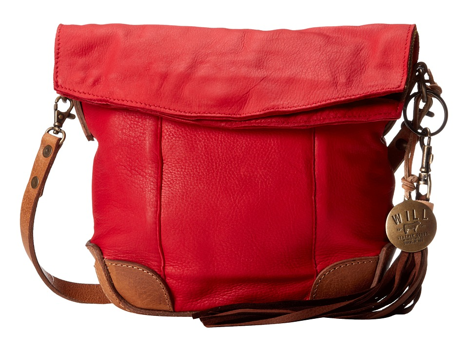 Will Leather Goods - Hazel Crossbody (Red/Tan) Cross Body Handbags