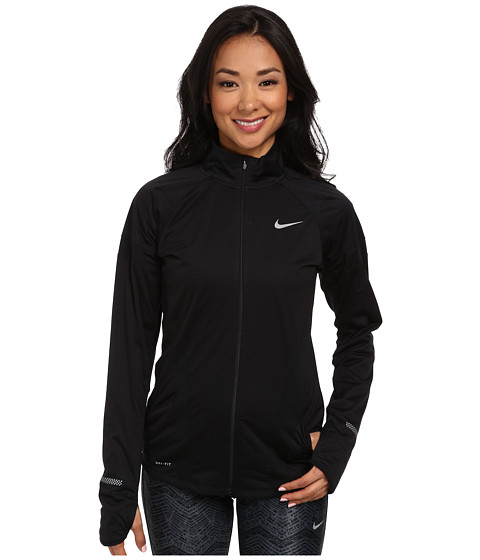 Nike - Element Shield Full-Zip Jacket (Black/Black/Reflective Silver) Women's Coat
