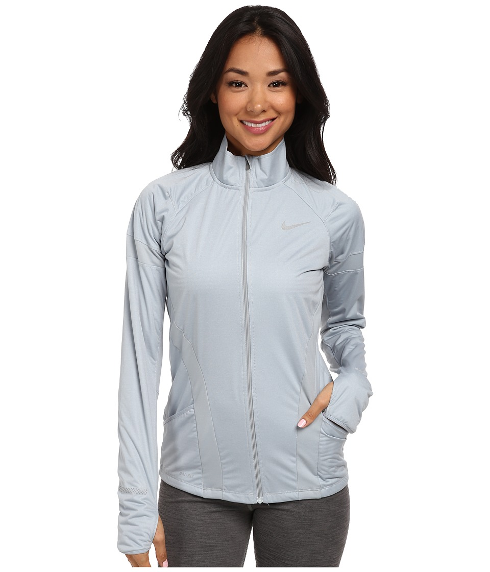 Nike - Element Shield Full-Zip Jacket (Light Magnet Grey/Heather/Light Magnet Grey/Reflective Silver) Women's Coat