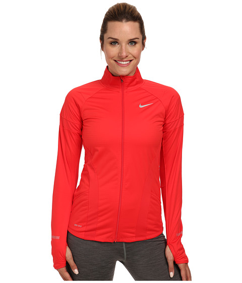 Nike - Element Shield Full-Zip Jacket (Action Red/Action Red/Reflective Silver) Women's Coat