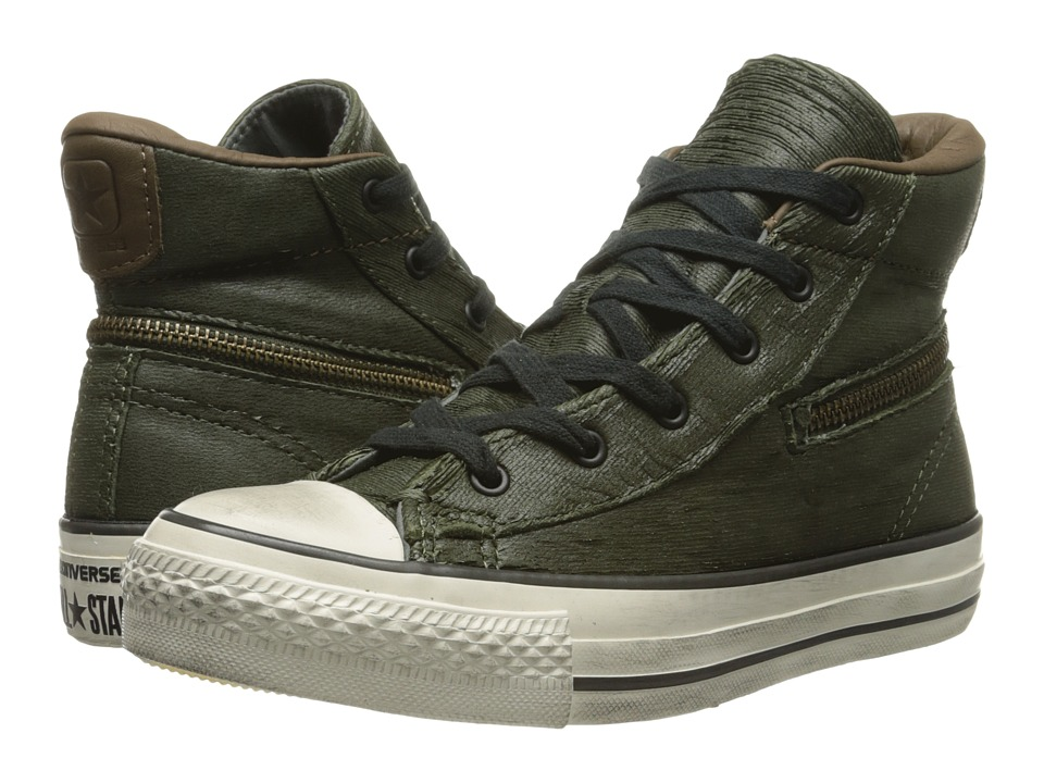 e62c5928f43f27 886955053663. Converse by John Varvatos - All Star Zip Scratched Leather  (Forest ...