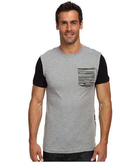 Nike - Print Party Tee (Dark Grey Heather/Black/Wolf Grey) Men