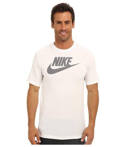 Nike - 26 O Futura Tee (White/Dark Grey Heather/Cave Purple) Men
