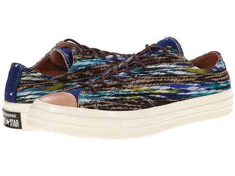 Converse - Chuck Taylor All Star Woven Ox (Victorian Blue/White) Athletic Shoes