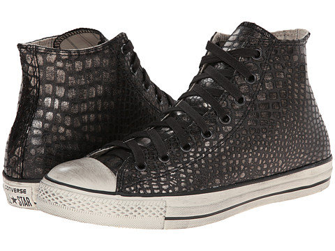Converse by John Varvatos - Chuck Taylor All Star Reptilian Leather (Silver/Turtledove) Athletic Shoes