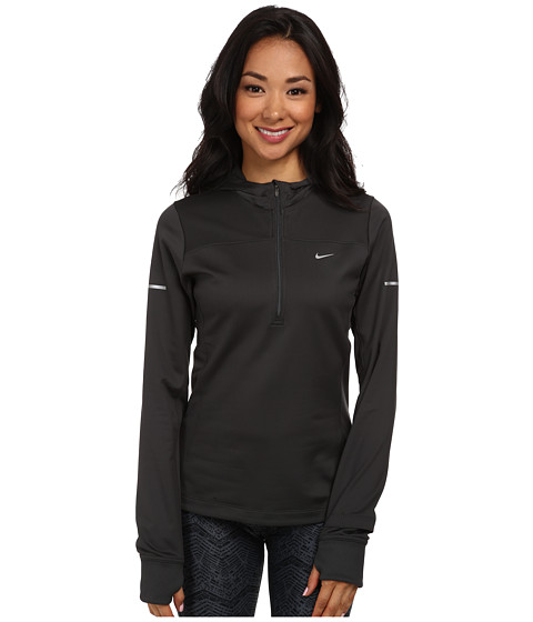 Nike - Thermal Hoodie (Anthracite/Anthracite/Reflective Silver) Women