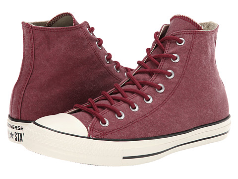 Converse - Chuck Taylor All Star Washed Canvas Hi (Oxheart) Lace up casual Shoes