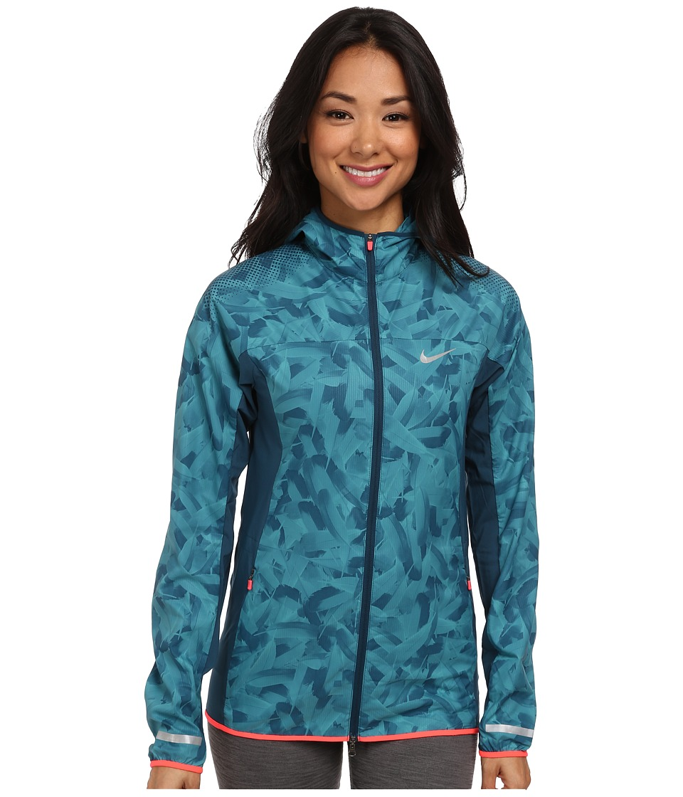 Nike - Printed Trail Kiger Jacket (Space Blue/Catalina/Hyper Punch/Reflective Silver) Women