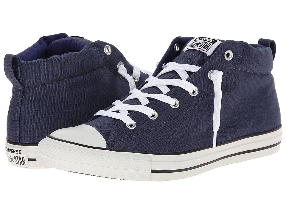 Converse - Chuck Taylor All Star Street Color Pop Canvas Mid (Navy/Victorian/Jasper) Lace up casual Shoes