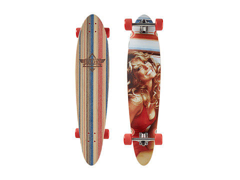 Dusters - Farrah Fawcett Longboard (Red) Skateboards Sports Equipment