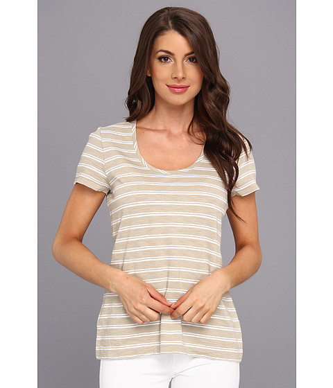 Tommy Bahama - Breton Stripe Scoop Neck Tee (Twill) Women's T Shirt