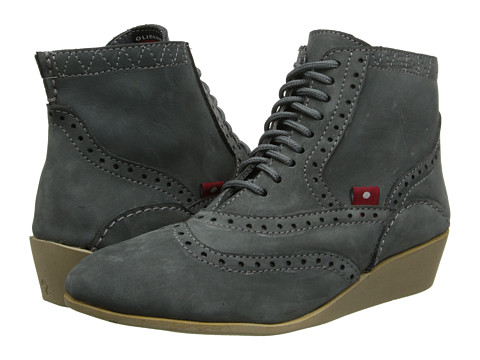 Oliberte - Lalina (Dark Grey Brushed Wax) Women's Boots