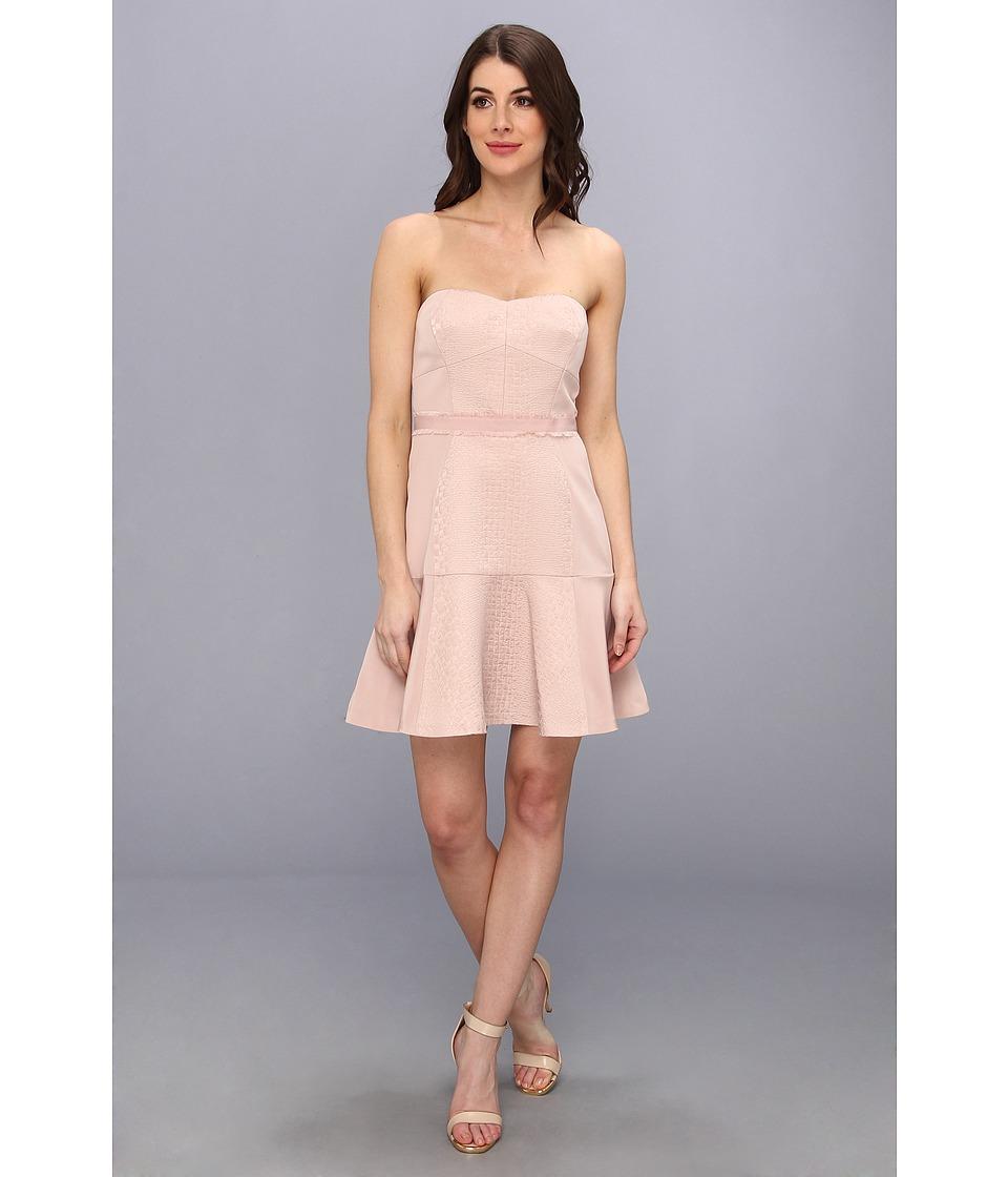 Rebecca Taylor - Strapless Cloque Dress (Pink Champagne) Women