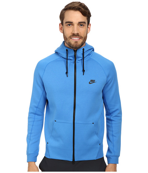 Nike - Tech Fleece AW77 1.0 Full-Zip Hoodie (Light Photo Blue/Light Photo Blue/Black/Black) Men