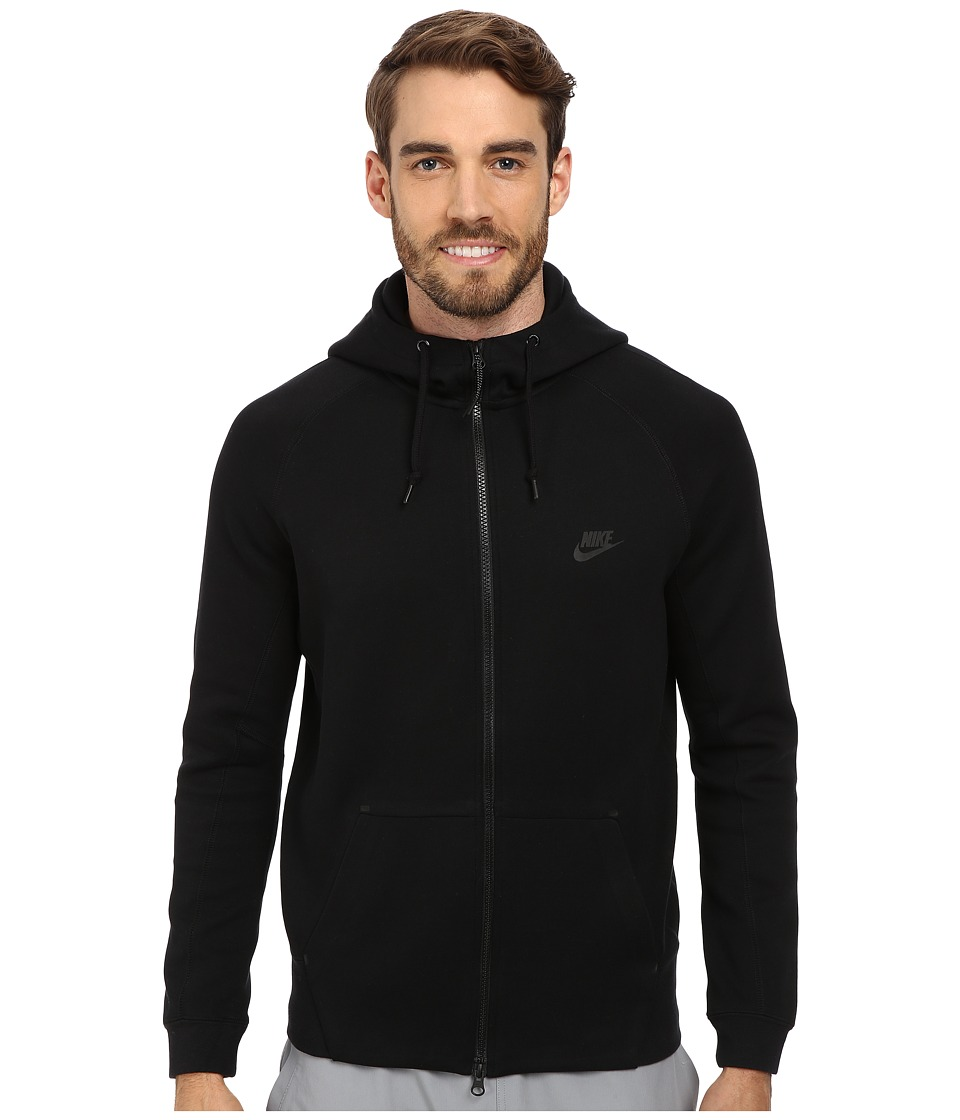 Nike - Tech Fleece AW77 1.0 Full-Zip Hoodie (Black/Black/Black/Black) Men's Sweatshirt