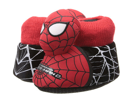 Favorite Characters - Ultimate Spiderman Sock Top Slipper 1SPF231 (Toddler/Little Kid) (Multi) Boys Shoes