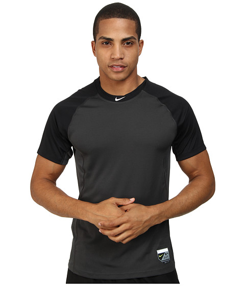 Nike - Baseball Pro Combat Core Raglan S/S 1.5 (Black/Anthracite/White) Men's Short Sleeve Pullover