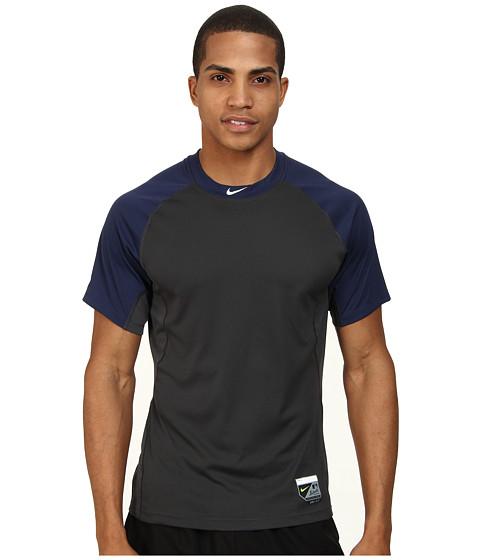 Nike - Baseball Pro Combat Core Raglan S/S 1.5 (Midnight Navy/Anthracite/White) Men