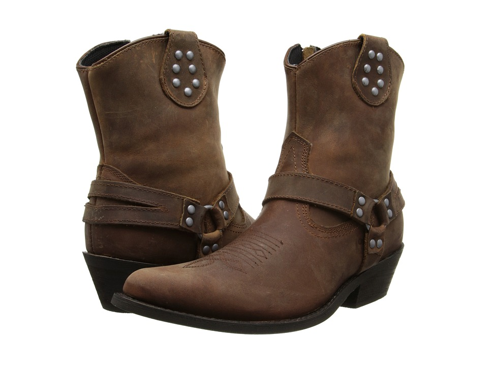 Dingo - Drop It Low (Dark Brown Oiled) Women's Boots