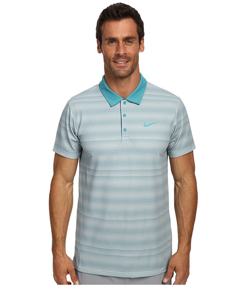 Nike - Rally Sphere Stripe Polo (Catalina/Catalina) Men's Short Sleeve Pullover