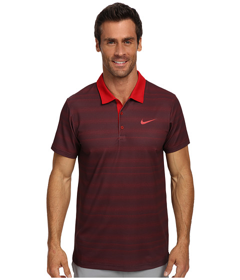 Nike - Rally Sphere Stripe Polo (Gym Red/Gym Red) Men