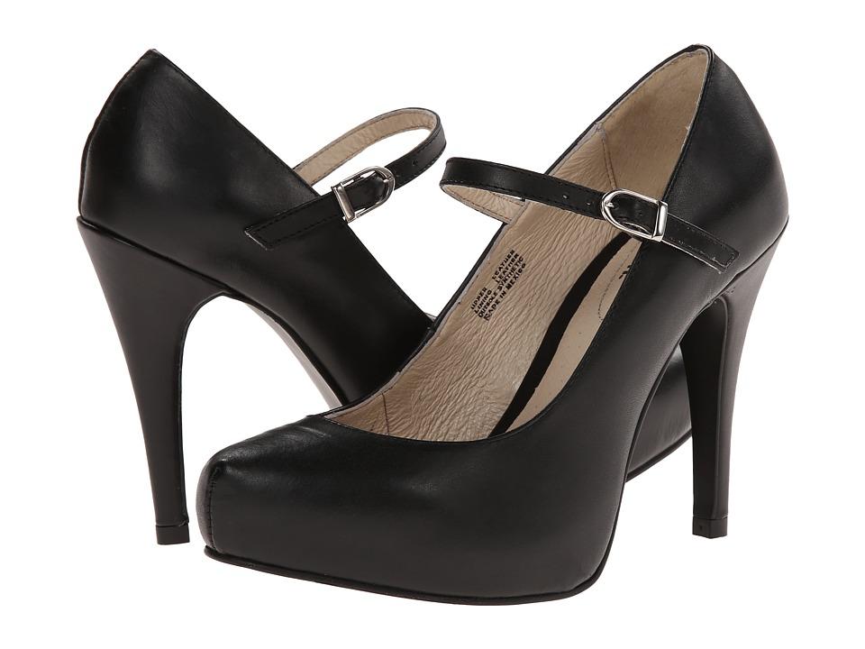 Fitzwell - Patsie (Black Leather) High Heels