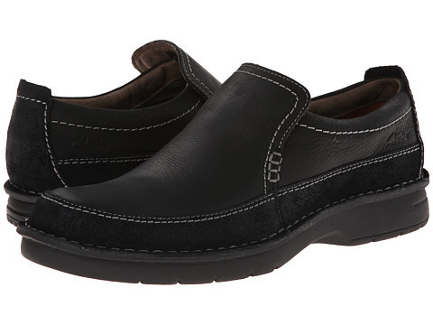Clarks - Seeley Step (Black Leather) Men's Shoes