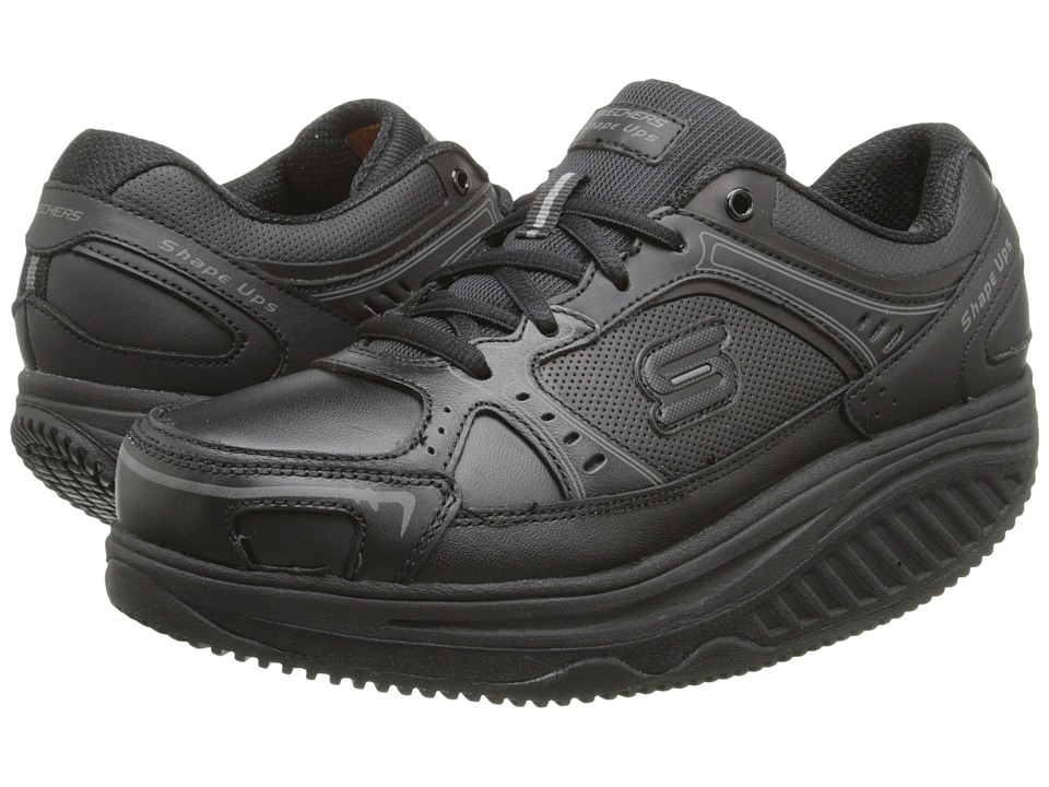 SKECHERS Work - Shape Ups Athletic W/S (Black) Women's Lace up casual Shoes