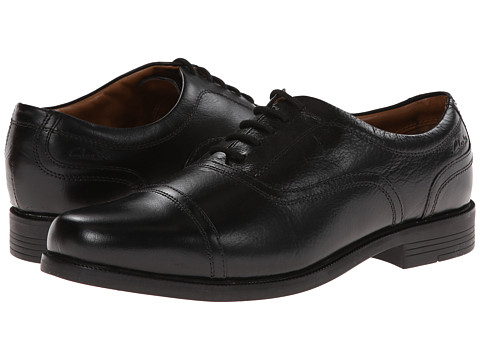 Clarks - Beeston Cap (Black Leather) Men's Shoes