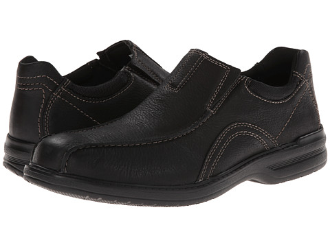 Clarks - Sherwin Time (Black Tumbled Leather) Men's Shoes